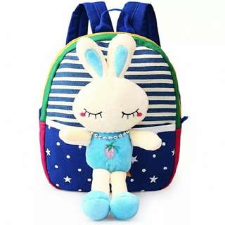 Baby backpack - Blue rabbit
