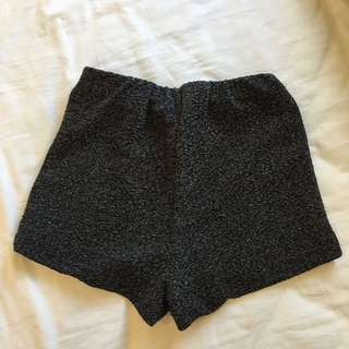 Glassons Glitter Shorts (black)
