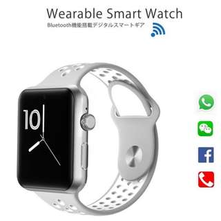 [ 熱賣中 ] 智能手錶 Smart Watch- WHATSAPP ,WECHAT FB IG QQ 信息顯示/來電顯示/可插sim 咭/播歌/睡眠監測/卡路里計算 /計步器/睡眠監測 IP32 Fitness Tracker Sleep Monitor, Pedometer, SIM card, Play Music on the Watch, for iPhone Android IOS (silver)