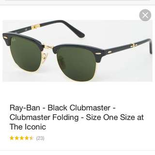 Ray Ban- Black Clubmaster