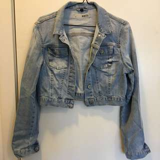 Topshop Moto Cropped Denim Jacket