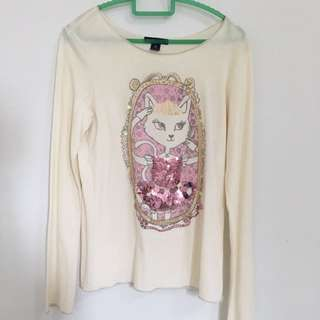 Gap Kids Cream Sequin Sweater