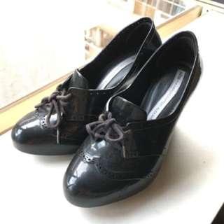Melissa香水膠鞋聯名款雨天防水牛津高跟船型底鞋EUR37