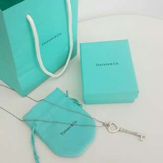 Tiffany & Co Heart Key Necklace
