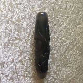 老玛瑙雕龙珠6.5cm