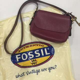 NEW Authentic Fossil Harper Small Sling bag with tag