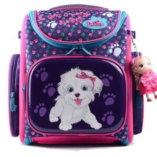 Delune Primary 1-3 Backpack School Bag for girls