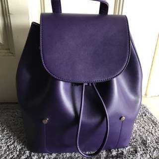 Piko-piko Back Pack in Royal Purple - Sometime Bag