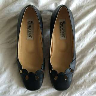 Princess Genuine Leather Heels