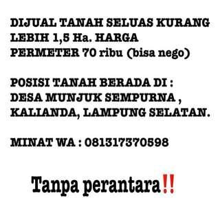 Dijual Tanah di Kalianda, Lampung Selatan.