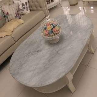 Preloved Table with Marble! Meja Shabby dengan Marmer Impor