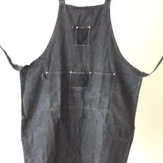 Dark Grey Denim Apron for Craft, Gardening, Cooking etc