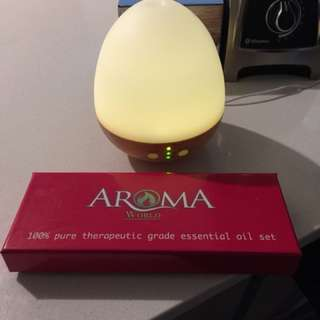 Electric diffuser and essential oil gift set