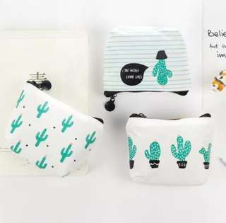 Cactus coin pouch
