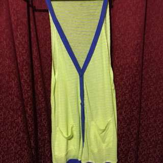 Folded and Hung Neon Top