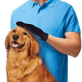 HKA0265 - (Clearance Sales) True Touch Deshedding Glove Gentle Efficient Pet Grooming Cleaning Dog Hair Brush