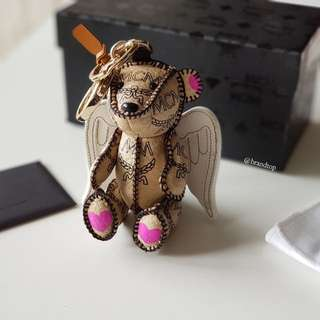 Authentic MCM Angel Bear Bag Charm Key Chain