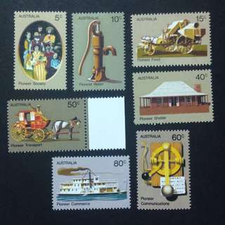 AUSTRALIA 1972, SET OF MNH STAMPS x7 PCS!!!
