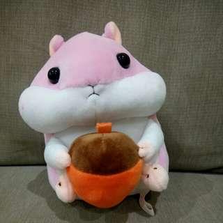 🚚 ✨二手🎉超療癒粉紅鼠娃娃