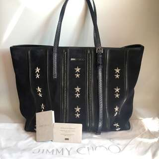 *100% Auth Jimmy Choo suede tote