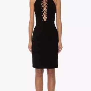Premonition PARALLEL DRESS - Black  - Sz L (AU 12) - BNWOT - RRP $169.90