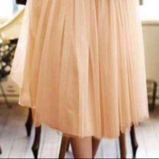 BN Champagne Gold Women Tutu Skirt