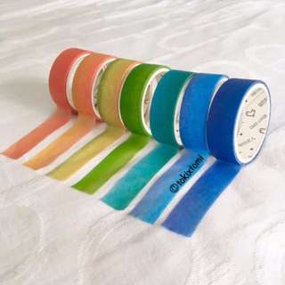 [RESTOCKED] BN Gradient Two Tone Washi Tapes (Set of 7)