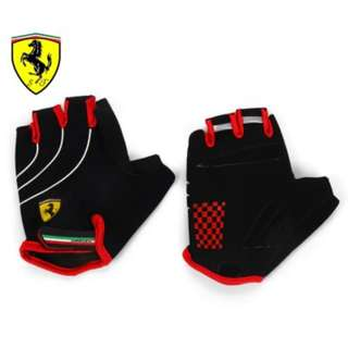 Ferrari Sports Gloves FLKA56584 Black/Red (Pair) L