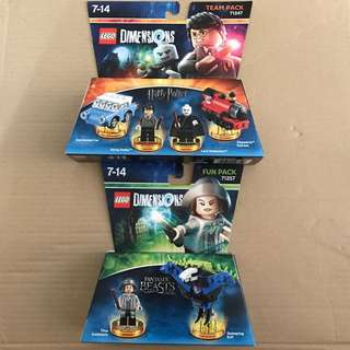 Lego Dimensions Harry Potter Team Pack 71247 & Tina Goldstein Fun Pack 71257