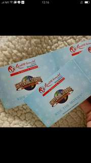 Uss and adventure cove Physical Tickets