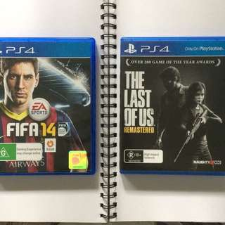 Playstation Games PS4 Last of Us Remastered + Fifa 14