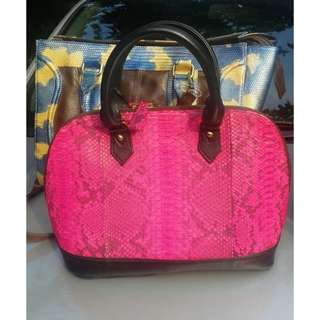Authentic Snake Skin Leather Bag