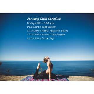 星期五晚瑜伽班 8:30 ~ 9:30 pm