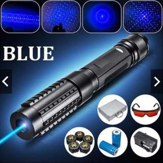 Powerful 445nm 1.6w High Power Military Blue Laser Pointer - Burning Power [Free Delivery]