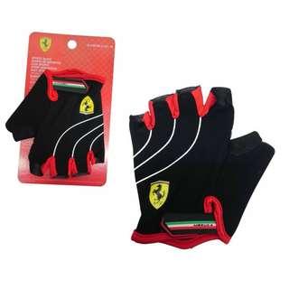 Ferrari Sports Gloves FLKA56584 Black/Red (Pair)  M