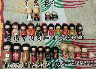 日本木製人形公仔10個