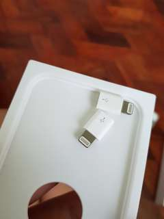 1pc Apple micro USB to Lightning adapter