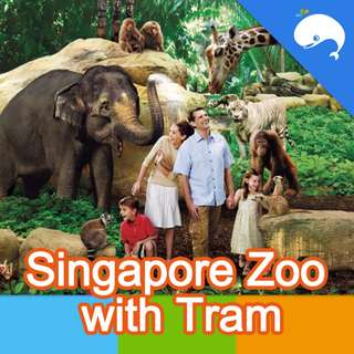 Singapore Zoo with Tram E-ticket