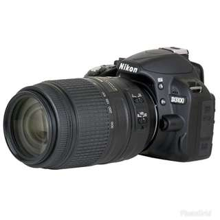 Nikon DSLR D3100 with 55-300mm lens