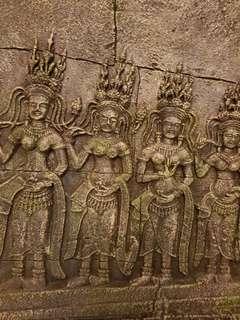 Angkor Wat wall panel display