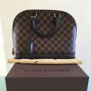 Original Louis Vuitton ALMA PM DAMIER EBENE