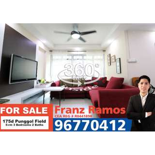 FOR SALE - 5-rm Renovated Flat in 175d Punggol