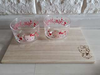 Hello kitty glass snack bowl