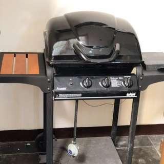 Outdoor BBQ Grill pake gas+ kompor