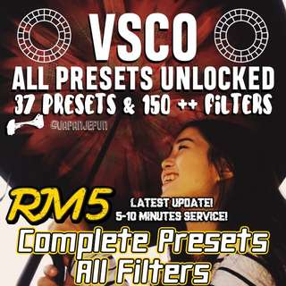 VSCO PRESETS (Complete All Latest Filters + Free Updates)