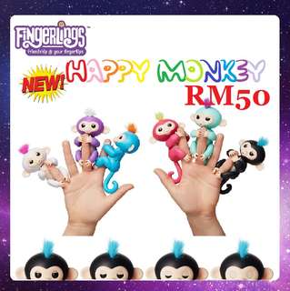 2017 New Fingerlings Children's Toys Finger Monkey Electronic Creative Finger