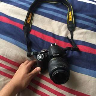 NIKON D3100 DSLR Camera with Nikon 18-55MM Lens, Memory Card and Bag