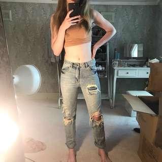 Ksubi boyfriend jeans size 24