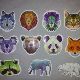 Diy Animals decal laptop luggage/ notebook Stickers