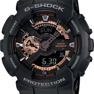G Shock Watch GA100RG ROSE GOLD